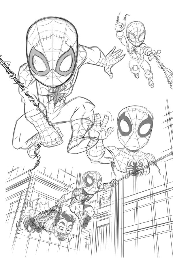 Spider-Man Super-Hero Adventures sketch