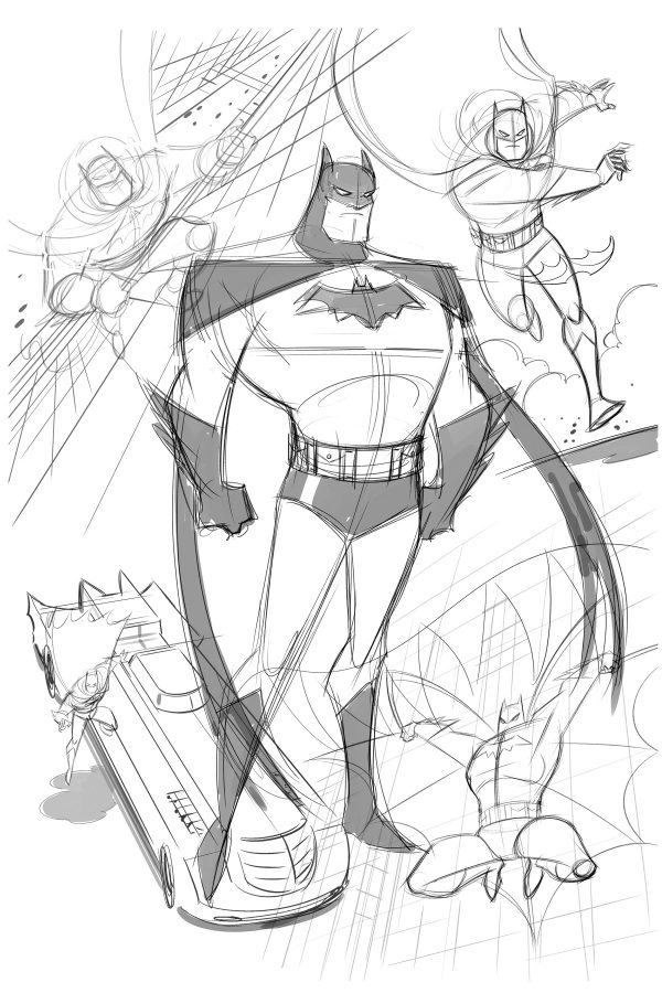 Batman: TAS sketch by Dario Brizuela