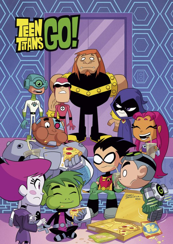 Teen Titans Go! pizza party